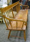Pine and Ash Arrowback Bench