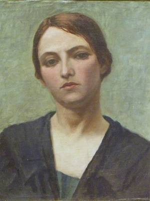 Framed Oil Portrait of a Woman