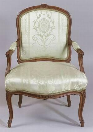 Louis XV Style Beechwood Fauteuil a la Reine