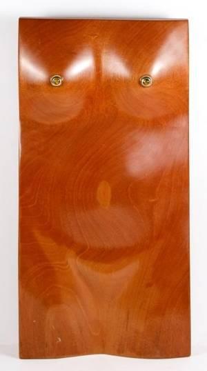 Richard Hill Modern Carved Teak Figural Torso