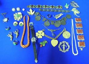 Assortment of Gold Silver and Costume Jewelry