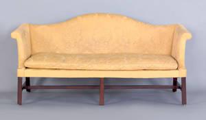 George III mahogany camel back sofa ca 1765