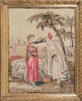 Victorian allegorical needlework