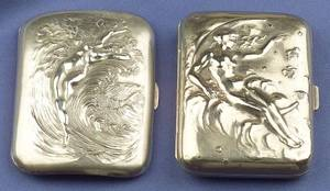 Art Nouveau Sterling Silver Cigarette Case Unger Bros