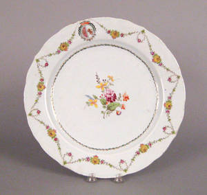 Chinese export porcelain armorial charger late 18th c