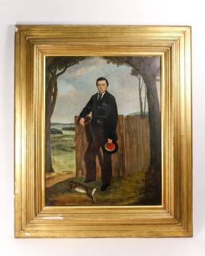 19th C American School Portrait of a Man