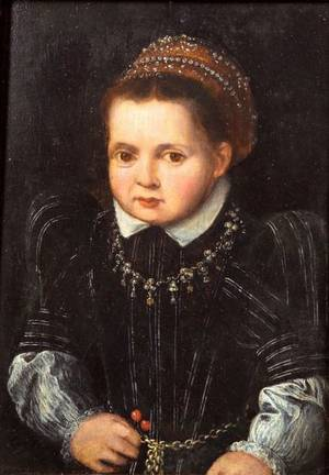 Manner of Pieter Jansz Pourbus Flemish 15101584 Portrait of a Child