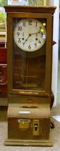 International Time Recording Co Oak Wall Punch Time Clock