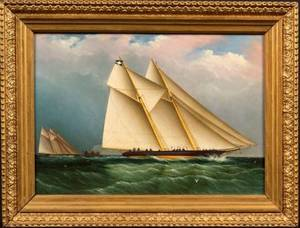 Attributed to James E Buttersworth AngloAmerican 18171894 Dauntless