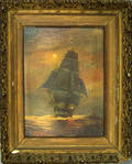 Two oil on canvas seascapes signed FJ Pyle