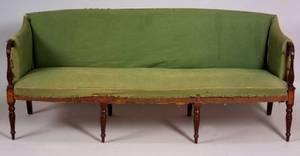 Federal Mahogany Inlaid Upholstered Sofa