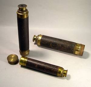 Three LacqueredBrass Marine Telescopes