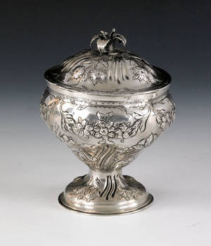Philadelphia silver covered sugar ca 1775