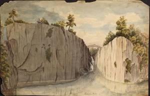 Attributed to Henry Schreiner Stellwagen American d 1866 Three Watercolor Views