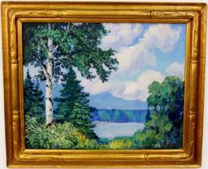 Frank Skinner Lake Superior Landscape Painitng