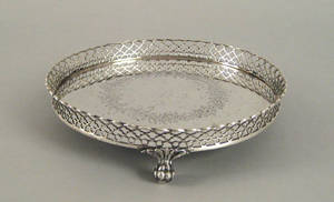 Boston Massachusetts silver salver ca 1845