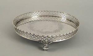 Boston Massachusetts silver salver ca 1845