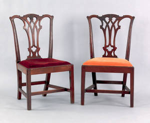 Pair of Philadelphia Chippendale walnut dining chairs ca 1775
