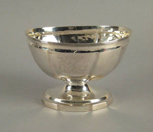 Philadelphia silver footed bowl ca 1800