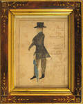 Pennsylvania or New Jersey watercolor portrait 19th c