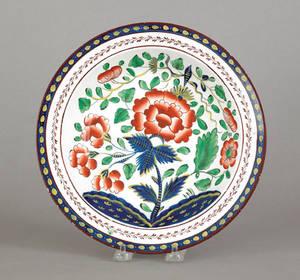 Gaudy Dutch carnation soup bowl 19th c