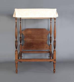 Massachusetts Federal mahogany tall post bed ca 1800