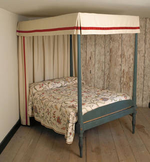 Pennsylvania painted tall post bed ca 1800