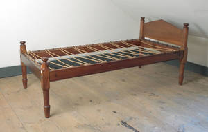 Pennsylvania cherry rope bed early 19th c