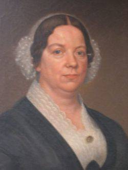 Framed Oil Portrait of a Lady With Lace Cap and Collar