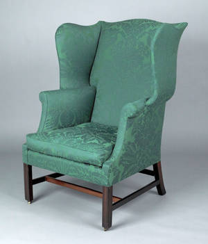 Chippendale mahogany easy chair ca 1775