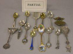 Collection of Approximately 168 Silver Plated and Metal Souvenir Spoons