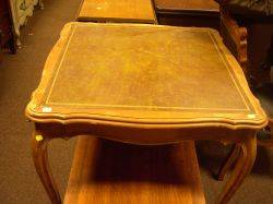 Louis XV Style Leather Inset Walnut Card Table