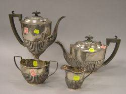 FourPiece English Sterling Silver Tea and Coffee Set