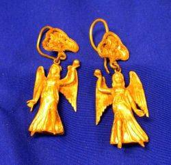 Pair of Ancient Greekstyle Gold Figural Earrings