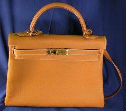 Brown Leather Kelly Handbag Hermes