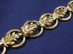 Retro 14kt Gold Convertible Leaf Necklace