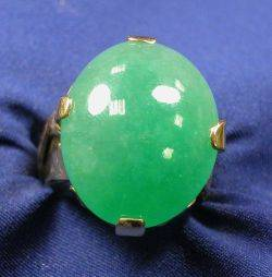 24kt and 18kt Gold and Jadeite Ring Miye