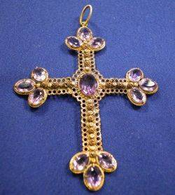 Antique 14kt Gold and Amethyst Pendant