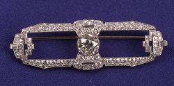 Art Deco Platinum and Diamond Brooch Raymond Yard