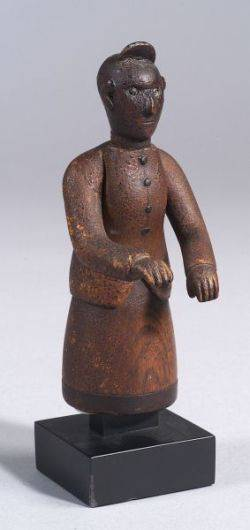 Carved and Painted Figure of a Woman