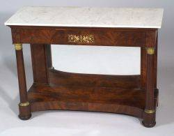 Classical Mahogany Figured Veneer Pier Table
