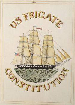 American School Early 19th Century Ship Portrait of the USS Constitution