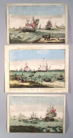 Set of Three Colonial Era Whaling Prints