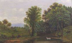 American School 19th Century Bucolic Farm Scene