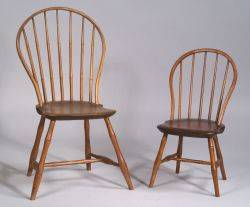 Childs Windsor Bowback Side Chair and a Windsor Bowback Side Chair