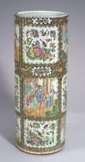 Rose Medallion Porcelain Umbrella Stand