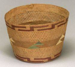 Northwest Coast Twined Polychrome Basket