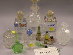 Collection of Thirtyone Glass Perfume Bottles and Vanity Items