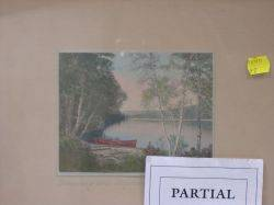 Three Framed Charles Sawyer Handcolored Landscape Photographic Prints