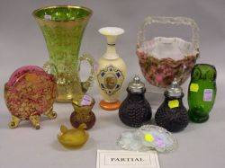 Twentythree Pieces of Assorted Victorian Art Glass